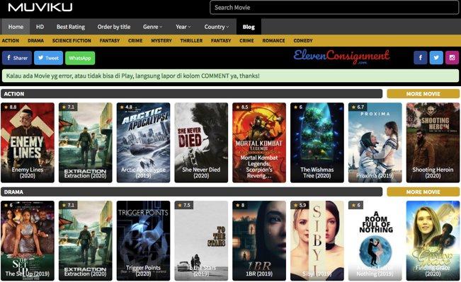 Daftar Website Nonton Streaming - MuviKu