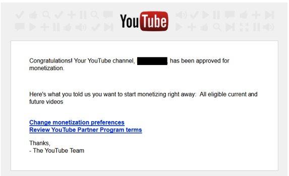 Mendapatkan Adsense Youtube Approve