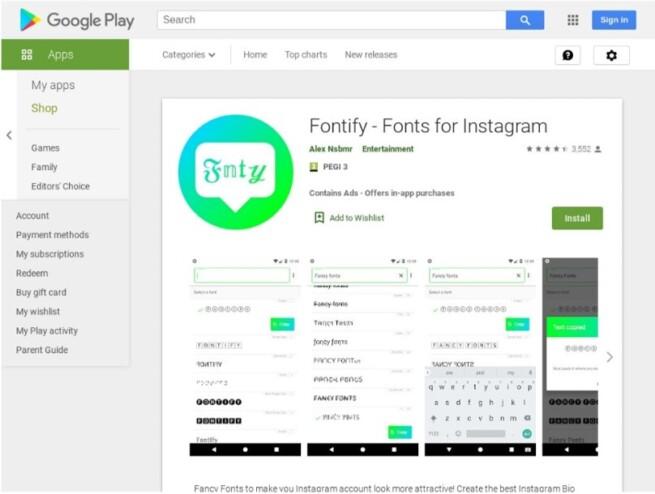 Tips Mengubah font pada Instagram - fontify font instagram