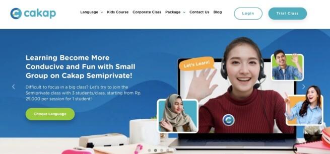 Aplikasi mobile belajar online cakap