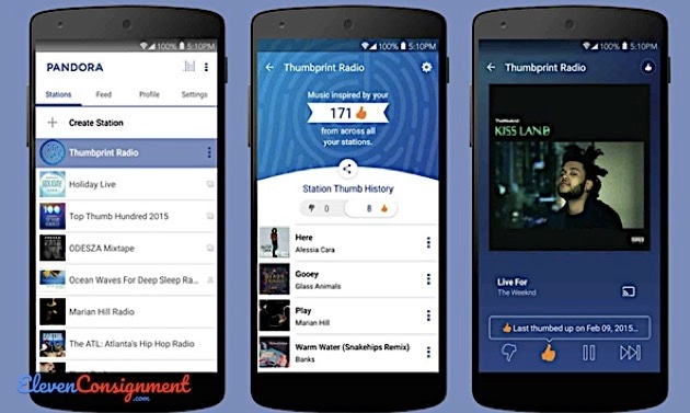 Aplikasi Terlarang Android Pandora Music Player